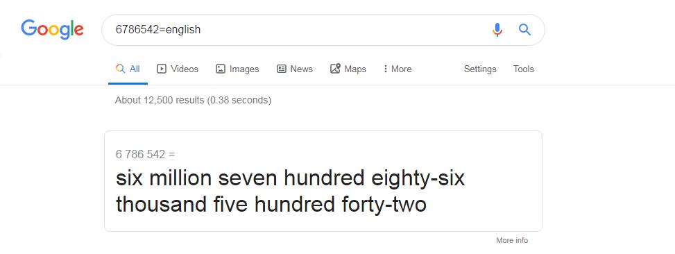 Google number
