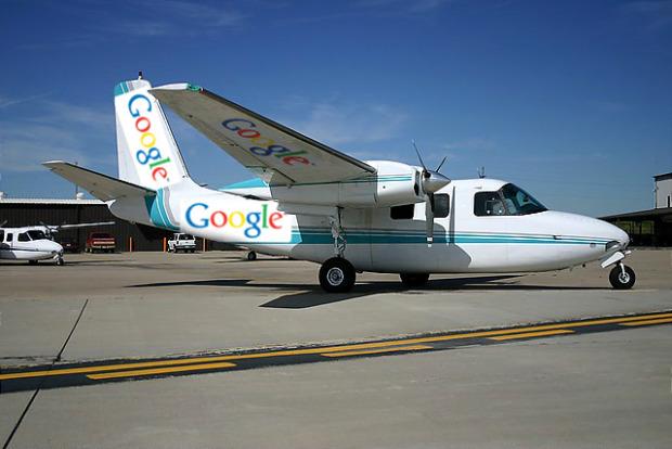 Google plane in Nasa