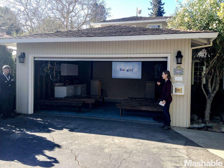 Googles rented garage