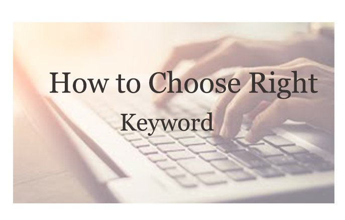 How to choose a right keword