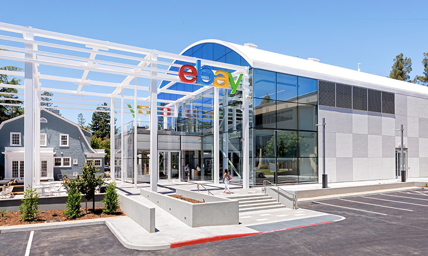 eBay Headquarters' building reflects categories available on eBay